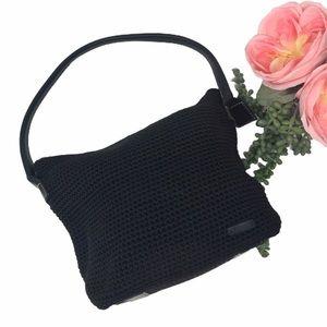 The Sak Elliott Lucca Crochet Knit Black Handbag